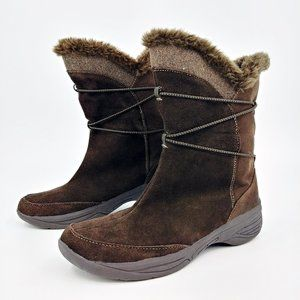 Croft & Barrow Holly Brown Suede Winter Boots